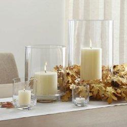 Recipientes cilíndricos de vidro transparente francês Candle Jar