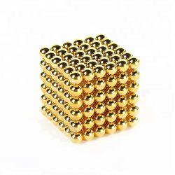 216PCS N35の希土類新ネオジム5mm磁気立方体および磁石の球