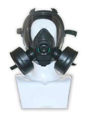 maschera antigas militare di nylon di gomma doppia del plastica della scatola metallica/