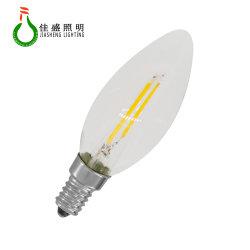 لمبة فتيلة LED صغيرة مُدرجة ضمن RoHS CE من UL CUL C7 0,6 واط E12 E14