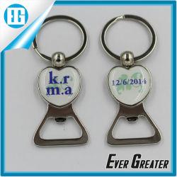 Инициалы эпоксидной наклейку бутылок с кольцом цепочки ключей