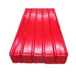 Color de los materiales de construcción del techo de zinc galvanizado recubierto de Hojas de acero corrugado de Hoja de Metal de hoja de techos en Ghana