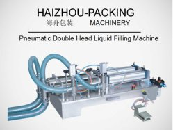 فتحة تعبئة ماكينة تعبئة السوائل هوائية أفقية مزدوجة الرأس
