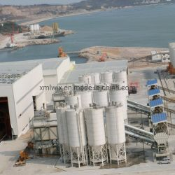 silo d'acciaio del silo di cemento 1000t con la parte inferiore conica