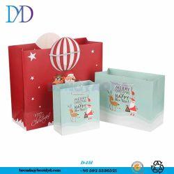 Weihnachtsmann, weiße Karten-Papierbeutel der Elch-230g, Multi-Size Weihnachtshochwertiges Geschenk-Papierbeutel