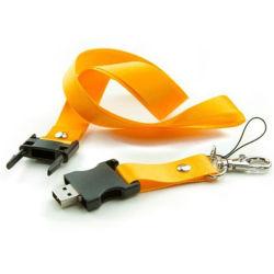 قلم مزود بميزة البيع السريع من المصنع مزود بمحرك أقراص USB مزود بسلسلة ذاكرة 2.0 شعار مخصص شريط عنق فلاش USB بحبل رقبة رقبة العنق Misorias USB قرص بندقيف على شكل U