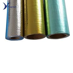 Materiale difficilmente infiammabile alluminato dell'isolamento termico del tessuto del poliestere