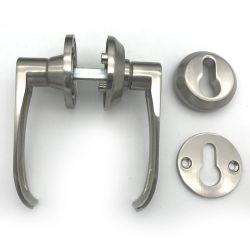 Französische Aluminium Druckguss-hitzebeständige doppelte mit Seiten versehene interne Eintrag-Durchgangbrown-Farben-Hebel-Typen des Tür-Griffs