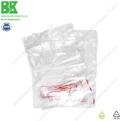 La qualité de la médecine en LDPE Ziplock enveloppe avec traitement de surface inscriptible
