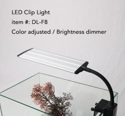10W brilho ajustável levou Aquarium encaixar a braçadeira da lâmpada de Stop