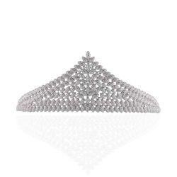 Bela Suite Cabelos Casamento Crown Rhinestone Tiara para noivas