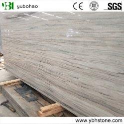 Crystal veine en bois/de marbre blanc de dalles de poli ou carreaux de revêtement mural