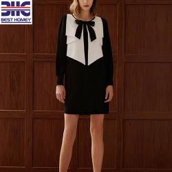Mesdames fashion Vêtements avec contraste Color Design Viscose robe de tricot