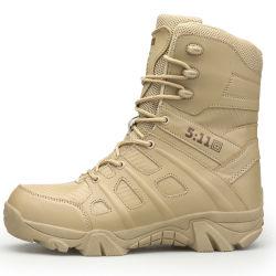 Comercio al por mayor de caucho de alta calidad de los hombres Raquetas de nieve botas militares, de cuero botas tácticas