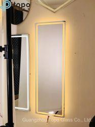 Populares pendurado na parede espelho com luz de LED (MR-YB1-DJ007)