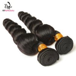 中国の製造者のバージンのRemyの毛の緩い波のペルーの人間の毛髪の拡張