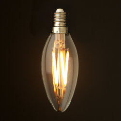 C35 LED 필라멘트 전구 램프 4.5W 투명 유리 110-130V/220-240V 에디슨 전구(CE RoHS 포함)