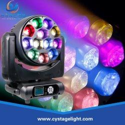 RGBW 12X40W LEDのディスコのズームレンズの洗浄移動ヘッドビーム段階の照明