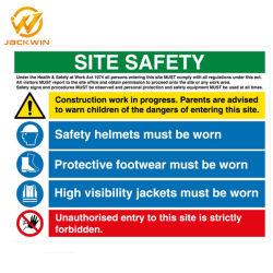 Impermeável ao ar livre reflexo Site Testemunho sinal de segurança na construção