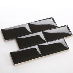 La mode de conception classique de style de décoration de mur noir tuile de métro en céramique