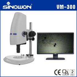 Vm-300 objectif à fort grossissement illumination microscope vidéo coaxial