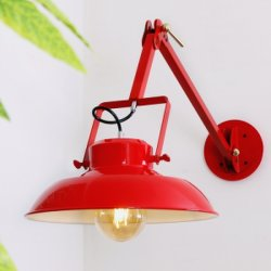 Vermelho Ajustável Interior Industrial Metal brilhante luz de parede LED