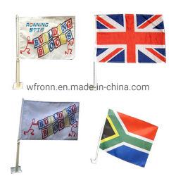 Commerce de gros de haute qualité en matière plastique imprimé personnalisé Pole la pendaison de drapeaux de la fenêtre de voiture
