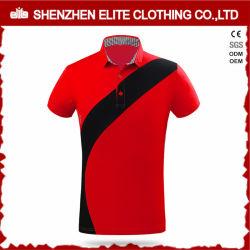 Nouveaux design Fashion de haute qualité Mens Polo Shirt Rouge (ELTPSI-14)