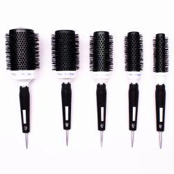 人または女性の毛のブロードライのカールのための円形のヘア・ブラシの一定のイオンの熱ヘア・ブラシのDetanglingのヘア・ブラシの櫛5つのサイズのセットのスタイルを作る