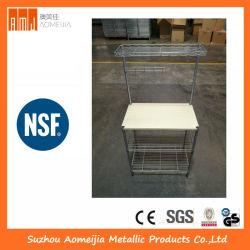 Хромированная или проволочной сетки для хранения из нержавеющей стали стеллажи 07174