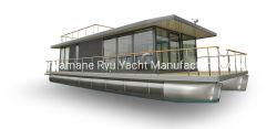 11m maison de verre aluminium pour un restaurant touristique bateau ponton