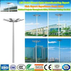 25 Meter Gegalvaniseerde Stalen Straatlamp Paal Paal Met Antenne Mand Voor Telecommunicatie Doel