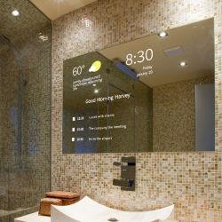 43pouces monté sur un mur Salle de bains Interactive Digital Signage Miroir Magique de la publicité Player