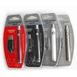 Nouveau stylo Vape de haute qualité de la CDB La CDB 350mAh Batterie de préchauffage Twist de préchauffage VV CBD Batterie