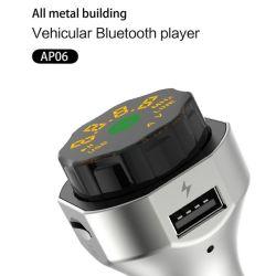 Manos Libres Bluetooth Car Kit Transmisor Modulador FM apoyar U disco TF tarjeta doble Cargador de coche