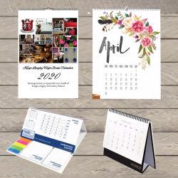 税関事務所のギフトのカレンダの印刷表の机の壁掛けカレンダー