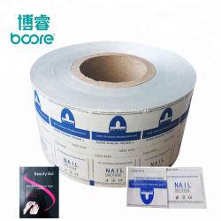 Folha de alumínio personalizada de fábrica embalagem de papel toalhetes de papel de alumínio laminado para acabamento de toalhetes para unhas de gel