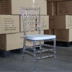 Im Freien moderner freier Acrylharz und Holz Chiavari Stuhl für Hochzeits-das Miethotel-Speisen