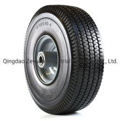3.50-4 사용되는 트롤리를 위한 편평한 자유로운 PU 거품 바퀴