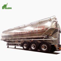 Eje 3 camión utilizado para trabajo pesado de cemento a granel de cenizas volantes de harina de trigo en polvo de aluminio semi remolque cisterna de transporte