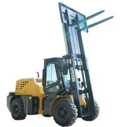 CE 3,5 tonnes de gazole tous terrain accidenté avec un élévateur à fourche/C de la cabine, pneus hors route, en option (5m de hauteur de levage 4WD), dispositif de commande côté mât triplex