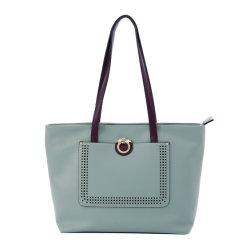 Sacchetto della signora Tote di acquisto del cuoio della borsa della ragazza di colore verde
