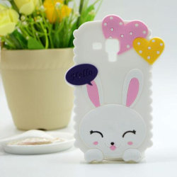 Personnaliser le cas mignon de téléphone mobile de silicones d'oreille de lapin 3D