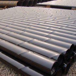 API 5L X80 arc submergé en spirale des tubes en acier soudé