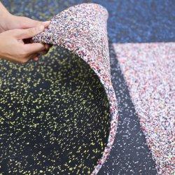 Stoßdämpfende Gymnastik-Gummifußboden-Matte