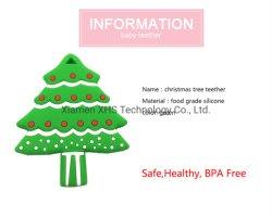 クリスマスツリーデザイン赤ん坊のための柔らかい食品等級のシリコーンのTeetherのおもちゃ