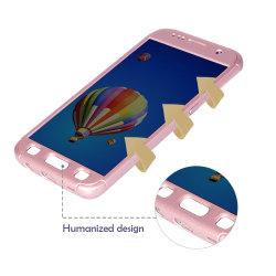 Ultra dünner bunter 360 Grad-schützender harter Kasten mit Gummitelefon-Shell für Samsung S7