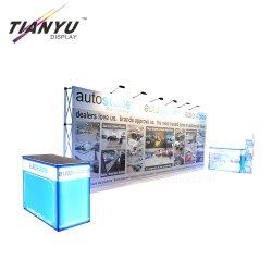 Exposition portative stand stand de la bannière de paroi droite de la tension tissu de fond