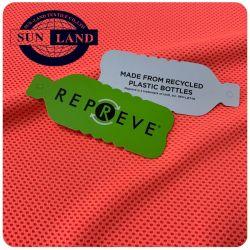 Het Vriendschappelijke Product die van Eco Gerecycleerde Polyester 55% Polyester Twee kleden van 45% Repreve van het Kation de kleur Gebreide Stof van het Netwerk van de Sporten van de Honingraat