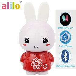 Mel de alilo Bunny /Learning Robô com Bluetooth, lengalenga, História para adormecer/ desenvolvimento precoce conversando brinquedo/ Falar inglês e chinês /Bilingual G6+